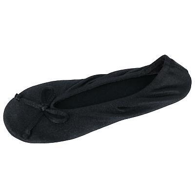 New Isotoner Women's Satin Classic Ballerina Slippers
