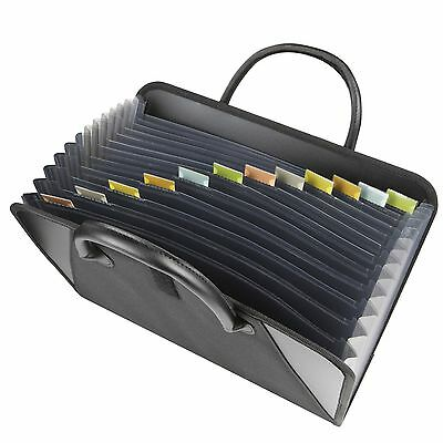 Expanding File Briefcase Document Folder Storage Organizer Travel Cabinet Office