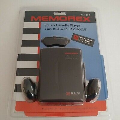 New In Package Memorex MR 1262 Stereo Cassette player 4 Key With Xtra Bass Boost