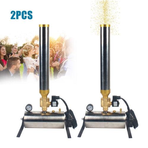 Confetti Machine 2pcs Canon Launcher Remote Control Stage DJ Party Wedding - $542.00