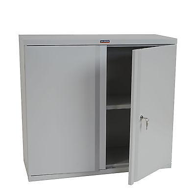 Aktenschrank Valberg H330, 2 Türen 84x92x37cm, grau, Metallschrank Büroschrank