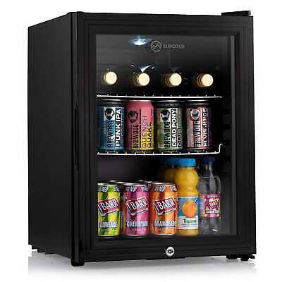 Subcold Super35 LED  Black | Refurbished C Grade |  Small Beer Mini Fridge | A++