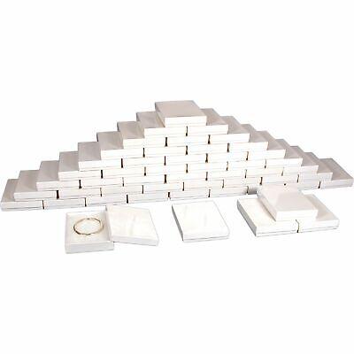 50 White Cotton Jewelry Gift Boxes 5 38