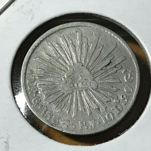 1834 Go PJ  MEXICO  SILVER ONE REAL NICE COIN