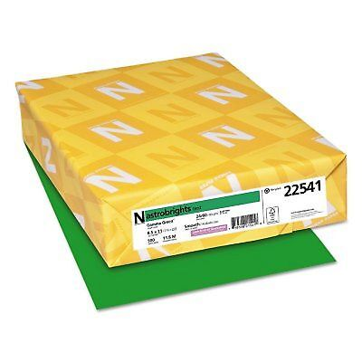 Neenah Astrobrights Colored Paper 24lb 8 12 X 11gamma Green 500 Sheetsream