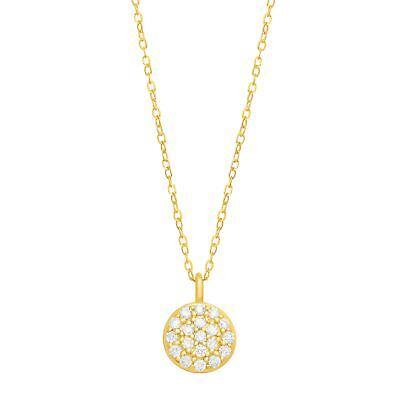 1/10 ct Diamond Circle Pendant in 14K Gold 14k Gold Diamond Circle Pendant