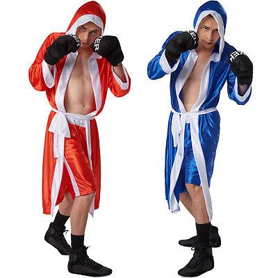 Box Kostüm (Boxer Boxerin Kostüm Komplett Set Karneval Fasching Unisex Kostüm Box Umhang)