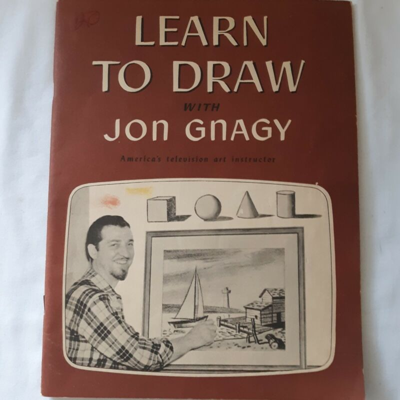 """Vintage """"Learn to Draw with Jon Gnagy"""" 1950 America"""