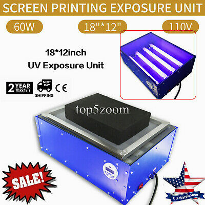 110v 1812 Inch Electric Exposure Unit Screen Printing Supply Top Grade Tool
