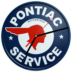 8 WALL CLOCK - Vintage Looking Sign Garage #4 Pontiac Service Car Retro