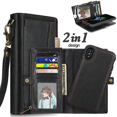 Best Valentines Gift for Men Husband, iPhone Genuine Leather Wallet Zipper