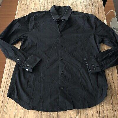 Express Design Studio Black LS Button Up Casual Shirt Size XXL #11894 - Black Button Studio