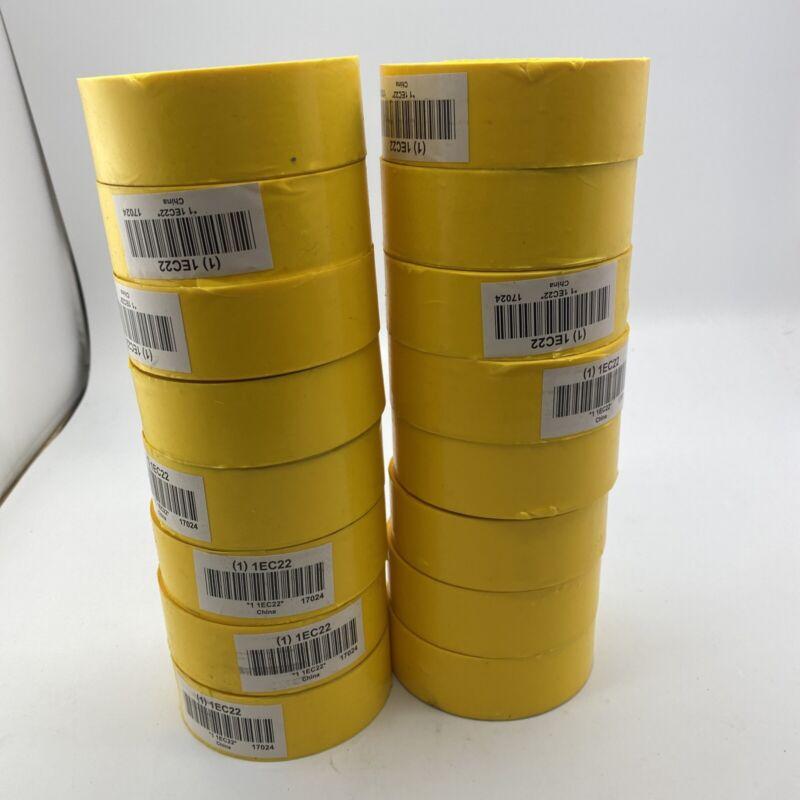 16 Rolls Of 1EC22 Flagging Tape, Yellow, 1 3/16 in x 300 ft, Blank