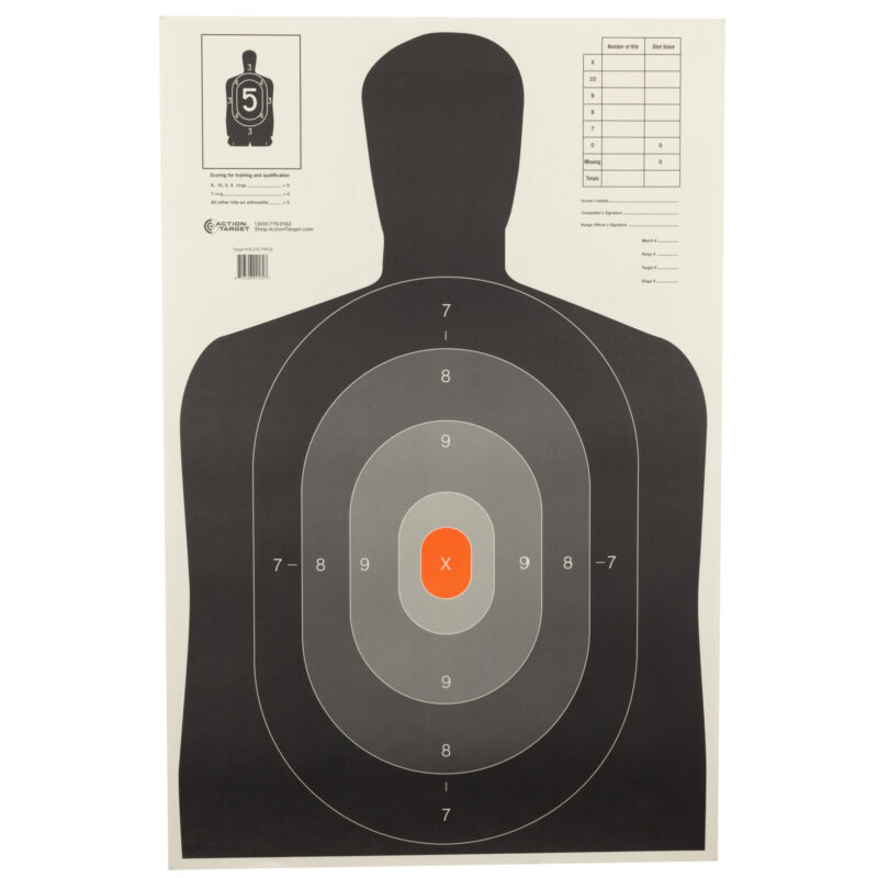 """Action Target B-27E Pros 23""""x35"""" 100 Pack"""