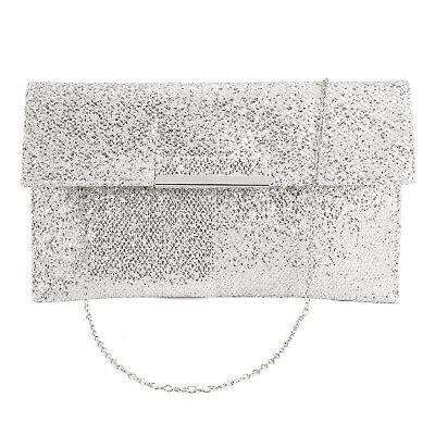 Anladia Trend Abendtasche Damentasche Clutch Pailletten Glitzer Handtasche