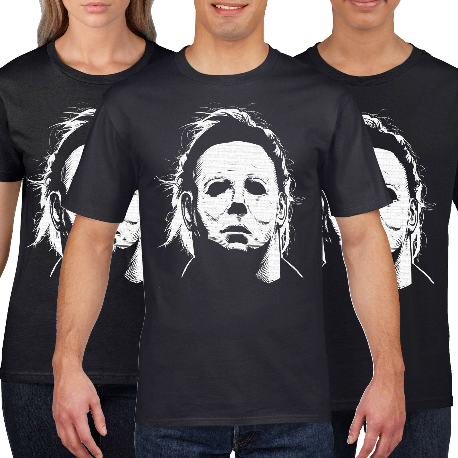 Halloween Funny T-Shirt Tee Michael Myers Kids Costume Fancy Dress Top Gift NEW