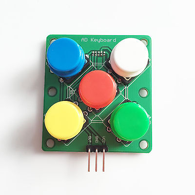 arduino Colorful Round Cap Button Analog Button 5 Five Keys Module