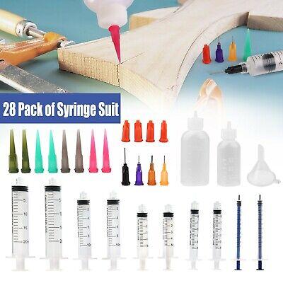 28x 10ml 5ml 3ml 1ml Luer Lock Plastic Syringes For Refilling Oil Ink Cartridge