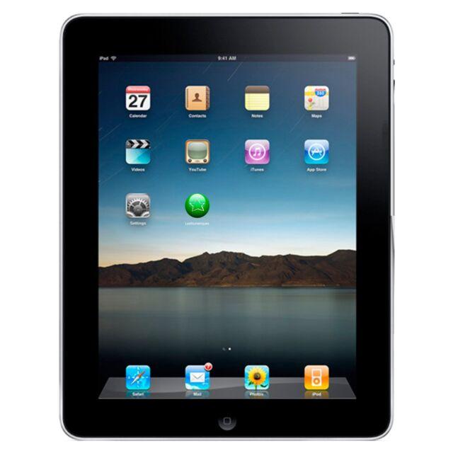 Apple iPad 1st Generation A1219 16GB Wifi  9.7in Black ST280229