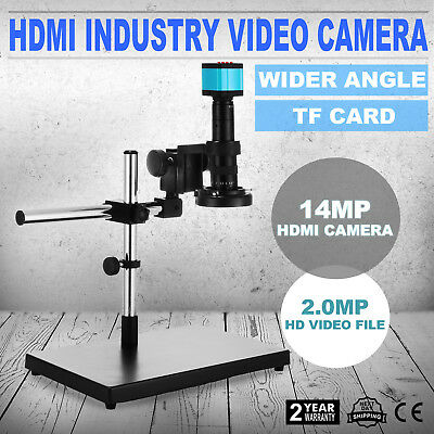 14mp 1080p Usb Hdmi Hd Industry Video Microscope Set Camera C-mount Lens Stand