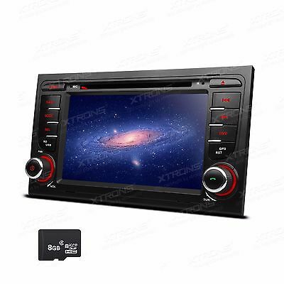 "7"" Car DVD GPS Navigation Stereo Radio Bluetooth USB For AUDI A4 B6 B7 S4 RS4"