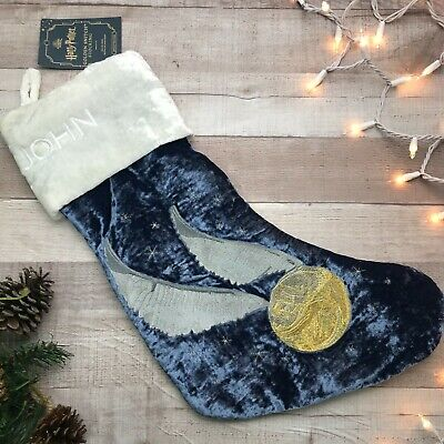 "NWT Pottery Barn Harry Potter Golden Snitch Stocking - ""John"""