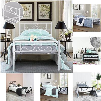 New Queen Bed Mattress (Platform Bed Frame Queen Twin Full Size Metal Bed Mattress Foundation Headboard )
