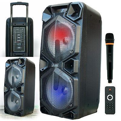 "EMB PKL5000 1800W 2x10"" PA Rechargeable Speaker System Built"