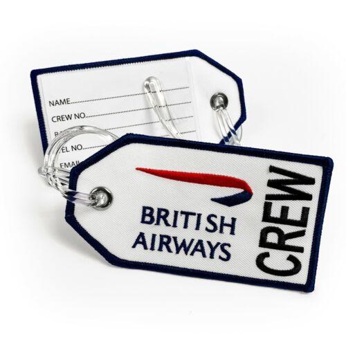 British Airways Logo Embroidered Crew Tag White