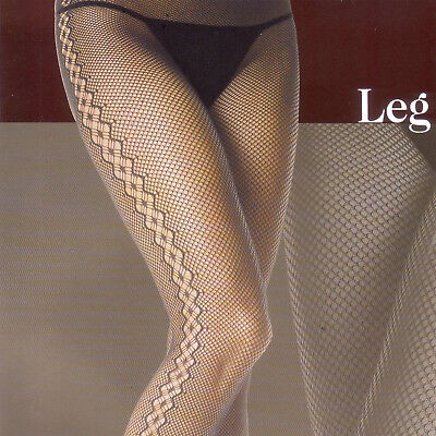 LEG AVENUE FASHION SEAMLESS SPANDEX FISHNET TIGHT PANTYHOSE  DIAMOND NET SIDE UP