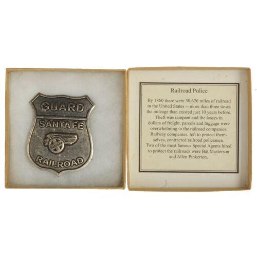 NIB Famous Lawmen of the Old West Railroad Police Santa Fe Guard Replica Badge