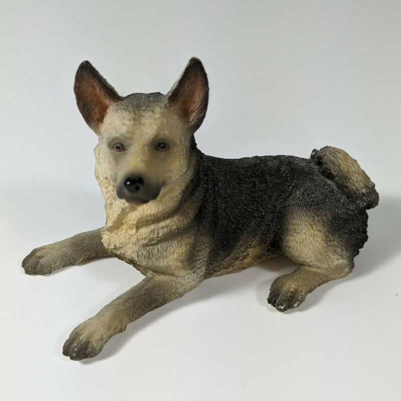 "Vintage German Shepherd Sculpture 4"" Dog Statue Summit Collection Figure"