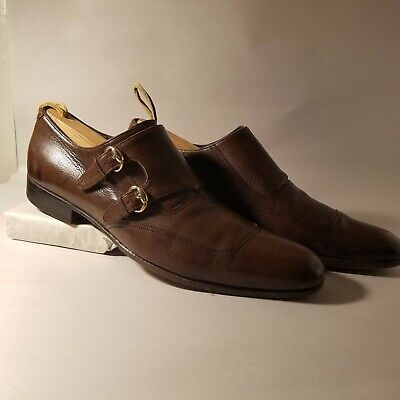 vintage Gucci mens shoes - Brown - Monk Strap Italy SZ 8.5 D