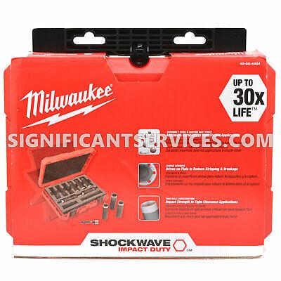 "New Milwaukee 49-66-4484 9 Piece 1/2"" Drive Shockwave Impact Socket Set (SAE)"