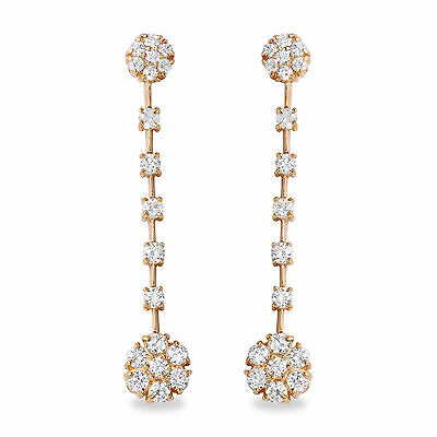 2.10Ct Natural VS1-VS2 Diamond 14k Solid Yellow Gold  Earrings Vs1 Vs2 Earrings