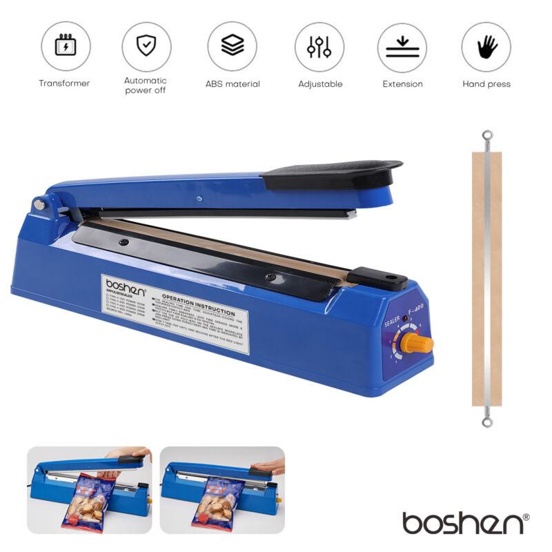 "16"" Heat Sealing Hand Impulse Sealer Heat Poly Bag Sealer Plastic Closer Machine"