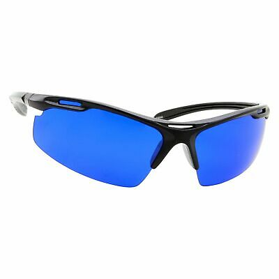 Black Golf Ball Finder Locating Glasses - Sports Style Blue Lens Sunglasses Men - Golf Ball Sunglasses