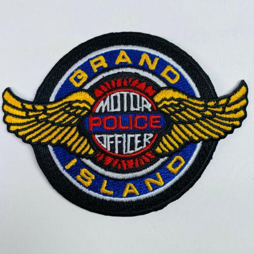 Grand Island Police Motor Officer Nebraska NE Wings Motorcycle Patch