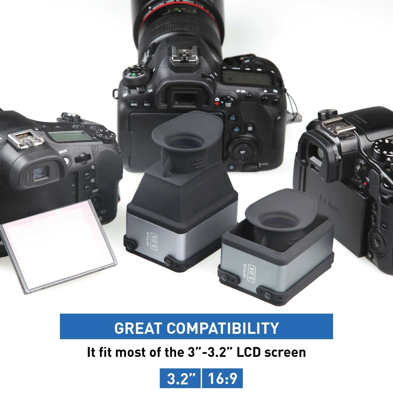 cvf 1 collapsible lcd viewfinder 3x magnifier