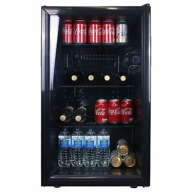 SIA 118L Under Counter Drinks Fridge, Beer And Wine Cooler With Glass Door