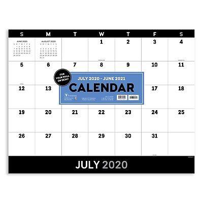 July 2020 - June 2021 Utility Large Desk Pad Monthly Calendar Blotter