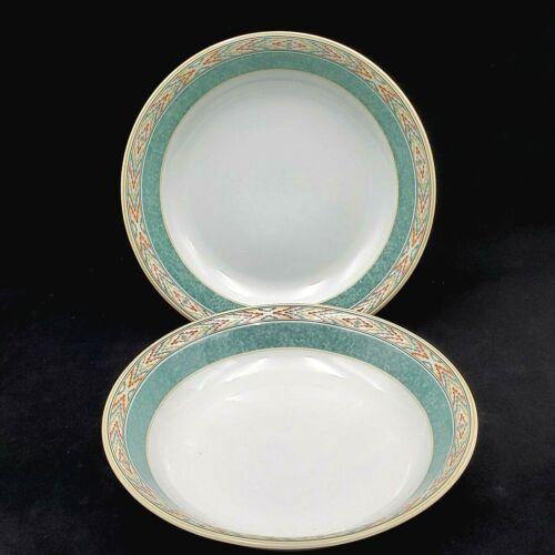Wedgwood Home Aztec SOUP PASTA BOWL Fine Porcelain SET OF 2