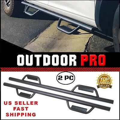 - Hoop 08-18 Chevy Silverado GMC Sierra Crew Cab fit Running Boards Nerf Bar Step