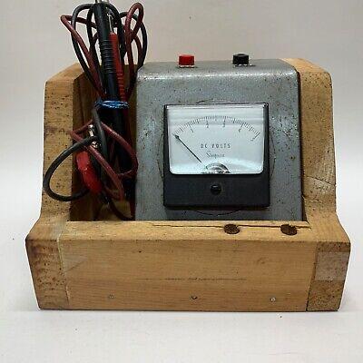 Vintage Simpson Panel Meter 0-5 Volts Dc Gauge Wooden Case
