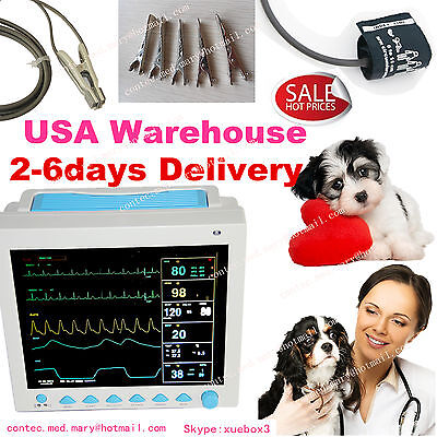 Vet Veterinary Pet Patient Monitor Multiparameter Icu Machine Big Screensale
