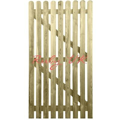 6ft x 3ft Treated Wooden Picket Garden Side Gate - Quality Handmade in Devon