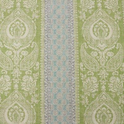 "P KAUFMANN Beautify OF PROVENCE AVOCADO GREEN FLORAL DAMASK FABRIC BY YARD 54""W"