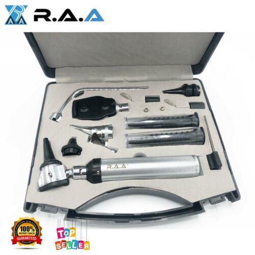 *NEW*ENT (Ear,Nose &Throat) Diagnostic,Otoscope,Ophthalmoscope set w-BOX