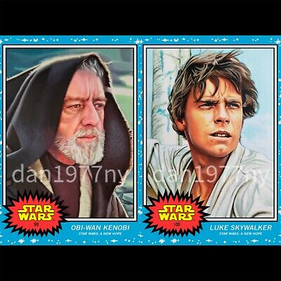 🛑👀 Topps Star Wars Living Set 2-card #99-100 Obi-Wan Kenobi & Luke Skywalker🔥