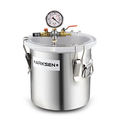 3 Gal 250mm Degassing Vacuum Chamber Epoxy Silicone Resin Solvent Mold Casting